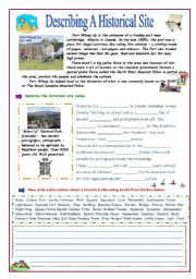 English Worksheets: Describing a Historical Site
