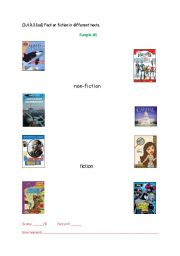 English Worksheets: Fiction/Non-Fiction Sort