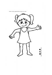 English worksheet: pert of body
