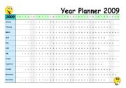 English Worksheets: Year Planner 2009