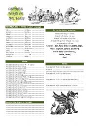 English Worksheets: PARTS OF THE BODY - ANIMALS