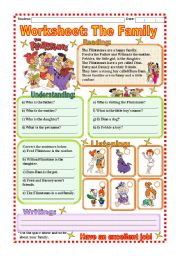 English Worksheets: Worksheet - The Family
