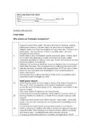 English Worksheet: Written test 11th grade