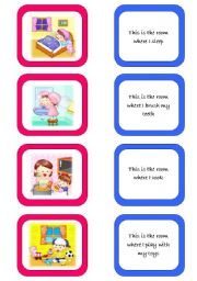 English Worksheet: Memory card game (1/2)