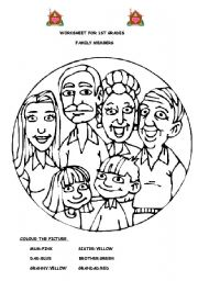 esl coloring pages family traditions - photo#22