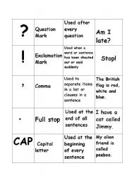 English Worksheet: puctuation