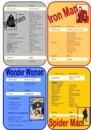 English Worksheets: Superheros - Set #1, Questionnaire