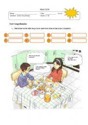 English Worksheet: breakfast