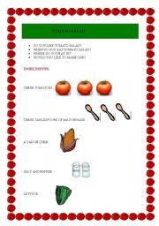English Worksheets: tomato  salad