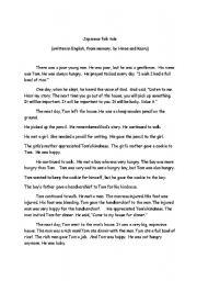 English Worksheets: Japanese folktale