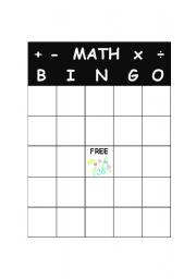 math worksheet : english teaching worksheets bingo : Math Bingo Worksheets