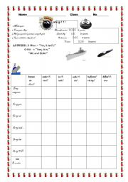 English Worksheets: Preposition Battleship