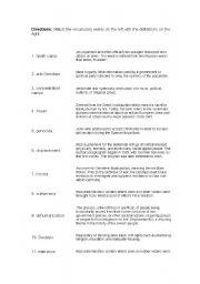 English Worksheet: Holocaust matching exercise