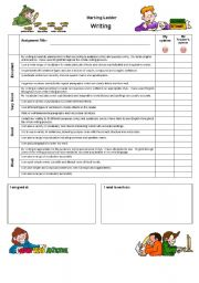 English Worksheets: assessment for writing