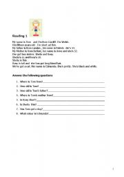 English Worksheets: Read and answer the following questions (2 readings e 2 questionnaires). Two pages.