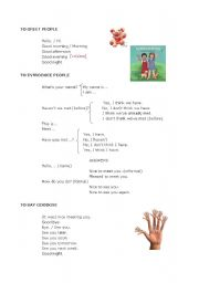 English Worksheets: GREETING AND INTRODUCING PEOPLE