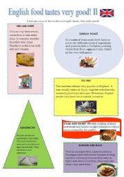 English Worksheet: ENGLISH FOOD TASTES VERY GOOD! Part Two