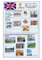 English Worksheet: Making suggestions for a stay in London