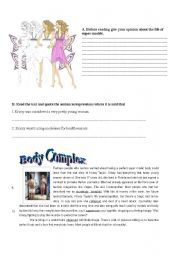 English Worksheets:  Test - Body complex (4 pages)