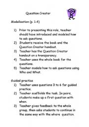English Worksheets: Quesion Creator Practice