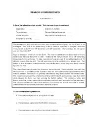 English Worksheets: Dinosaurs - Reading Comprehension