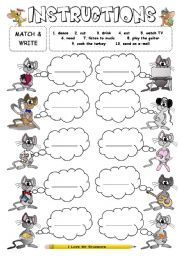 English Worksheet: Instructions - imperatives
