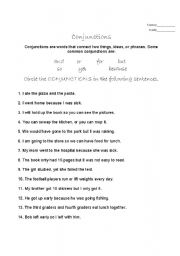 English Worksheets: conjunction worksheet 2
