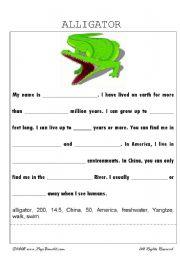 English Worksheets: Alligator