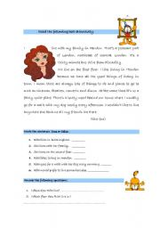 English Worksheet: teste daily routine