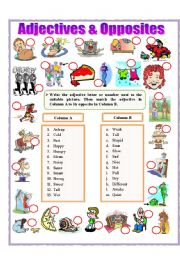 English Worksheets: Adjectives and Opposites (part 2)