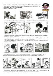 English Worksheet: MAFALDA, MY FAVE CARTOON