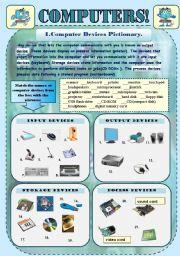 English teaching worksheets: Computers