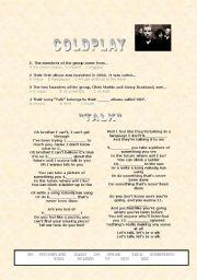 English Worksheets: Coldplay - Talk