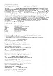Worksheet on Bob Dylan´s song, If You See Her Say Hello