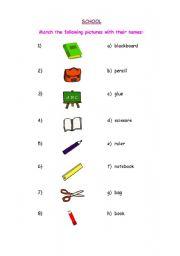 English worksheets: CLASSROOM VOCABULARY