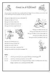 English Worksheets: Have you ever...? - Test