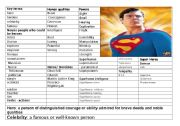 English Worksheet: Heroes and Villains