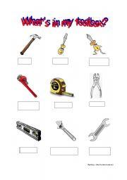 What´s in my toolbox 1 (worksheet)