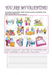 English Worksheet: YOU ARE MY VALENTINE!