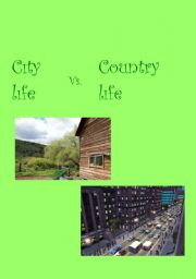 English Worksheet: city life & country life