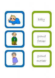 English worksheet: Memory card game (2/2)