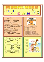English Worksheet: MODAL VERB CAN