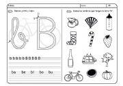 English Worksheets: ficha de lectoescritura