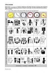 English Worksheet: Office Activities