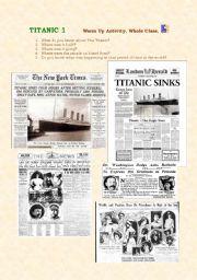 English Worksheet: TITANIC 1
