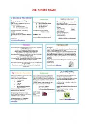 English Worksheet: Job-Advert Board - Part I
