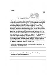 English worksheet: A Beautiful Mind Movie