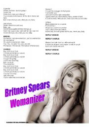 English Worksheet: Britney Spears - Womanizer