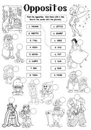 English Worksheet: Opposites - adjectives