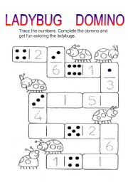 English Worksheets: ladybug domino